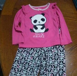 Girls size 3t Panda Pajamas